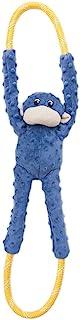 ZippyPaws - Monkey RopeTugz, Squeaky and Plush Rope Tug Dog Toy