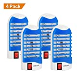 GEEKERS Bug Zapper Electronic Insect Killer Mosquito Killer Lamp,Eliminates Most Flying Pests! Night Lamp - (Blue)