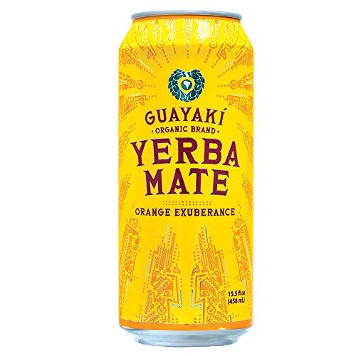 Organic Yerba Mate, Orange Exuberance, 15.5 Fl Oz (Pack of 12)