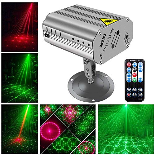 CITRA Laser Lights 220-240v portable mini bar LED RGB Stage Light Projector light with Wireless Remote Control, Laser Stage Lights for decor DJ Lighting Disco Party,Clubs,Bars