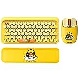 YaGFeng Combinazione di Tastiera e Mouse Wireless, Set Completo di Tastiera e Mouse Wireless, con Tastiera Numerica Silenziosa Ed Ergonomica
