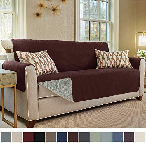 Best Gorilla Grip Original Slip Resistant Large Sofa Protector for Seat Width up to 70 Inch, Patent Pendi
