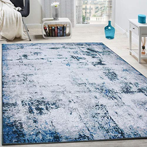 YX-lle Home Modern Rugs Woven Printed Chic Ink Splashing Style Area Rugs Soft Carpet Rugs Living Room Rug Bedroom Rugs Kids Room Bedside Rug Durable Non Shedding(Chic Ink,160x230cm)