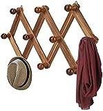 FF Perchero Extensible montado en la Pared 10 Ganchos Ropa Sombrero Bolsa Percha para el Dormitorio casero