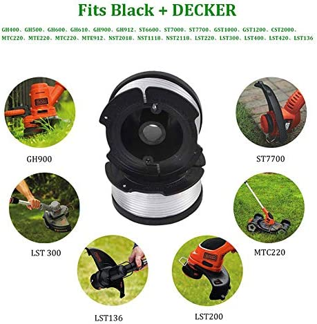 Spools Caps Spring Kit for BLACK DECKER AF-100-3ZP Replacement Strimmer Line Cutogain 30ft .065 Inch Trimmer Strimmer Cord Line Line Grass String Trimmer