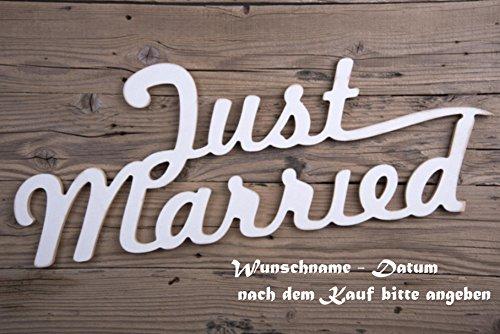 Creativ Deluxe 'Just Married Felpudo (–Estampado con Nombre Personalizado, Fecha, etc.–Felpudo (Felpudo Interior frigo Divertido diseño Felpudo (