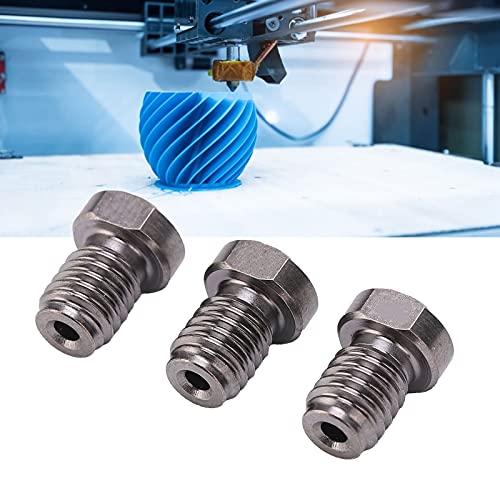 Boquillas de impresora 3D de 3 piezas, boquilla de impresora 3D de filamento de 1,75 mm de acero endurecido TT3D, para extrusora Prusa I3 de 1,75 mm Ender3 E3D Hotend Titan(0.3mm)