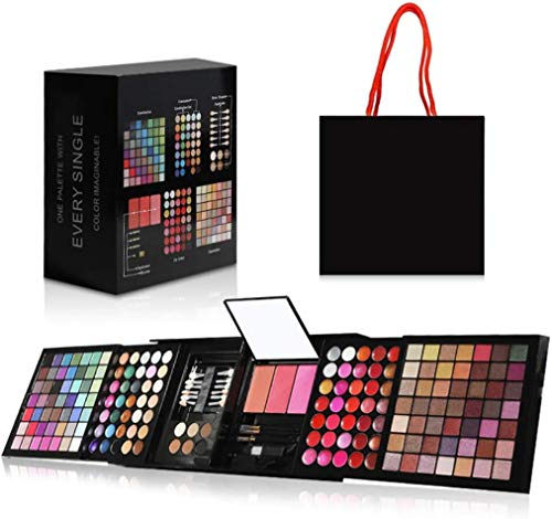 Hotrose Full 177 Color Eyeshadow Palette Blush Lip Gloss Concealer Kit Beauty Makeup Set,All-in-One Makeup Kit with Mirror, Applicators