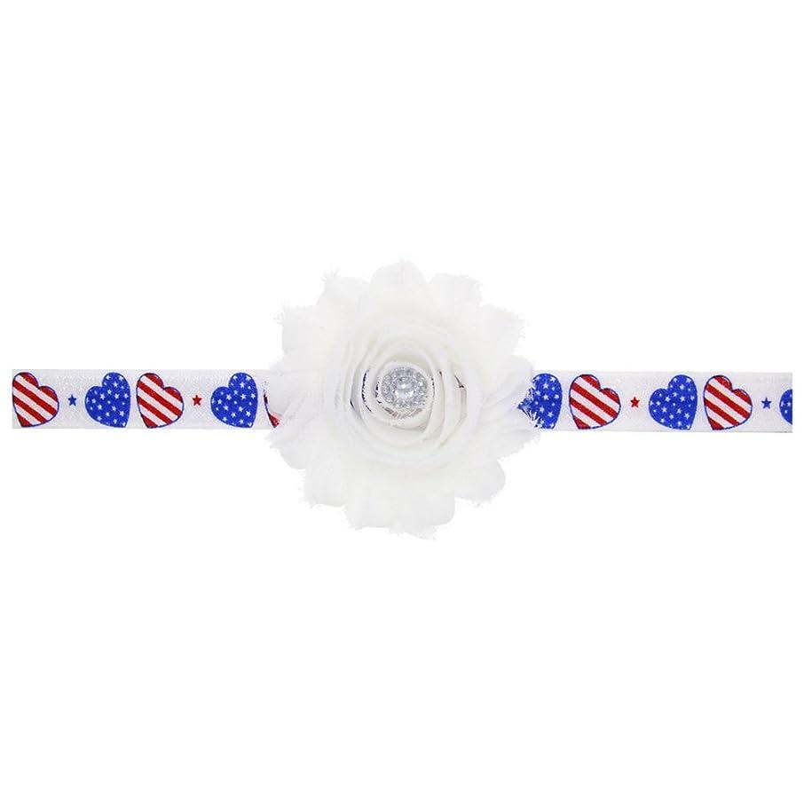 十インキュバスアスリートBESTOYARD 赤ちゃんの女の子の髪のフープアメリカの旗愛国的なヘアバンドクリスタルフラワーフラワークラウンストレッチヘッドバンド