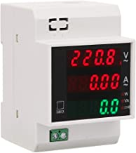 LED display 2.1 * 3.1 * 2.5inch 35mm din rail installation AC100A Power Factor Meter, Digital Energy Meter, for Household ...