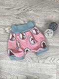 kurze Pumphose Jersey haremshose Gr. 56-110, hose mädchen fuchs bär rosa, Babyhose, Shorts kurze Hose