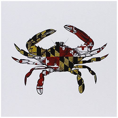 3dRose Set of 12 Greeting Cards, Maryland Crab Flag (gc_193242_2)