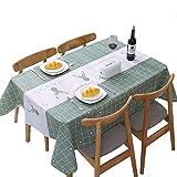テーブルクロス長方形 北欧 テーブルカバー 撥水 防水 防油 PEVA製 おしゃれ 137x90cm