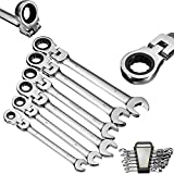 Flexible Ratcheting Wrench Set,6Pcs Gears Wrench Set Open End Wrenches Activities Ratchet Repair Tools To Bike Torque Combination Spanner Allen Keys