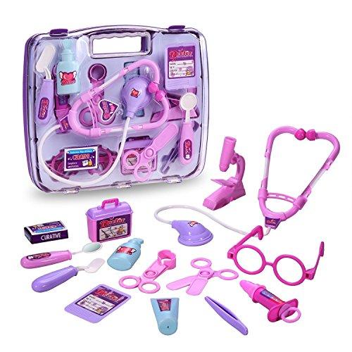 Jeu d'imitation,GYOYO Jouet Docteur Médicaux de Docteur Le Kit du Docteur Jouet avec Accessoires Valisette Pour Enfants Garçons Filles Âge de 3 ans plus