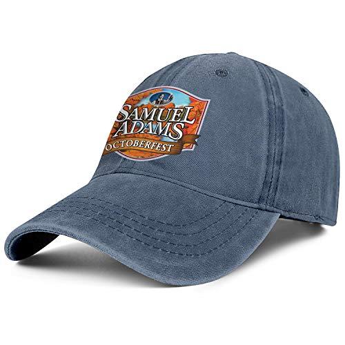Mens Woman Samuel-Adams-Beer-Octoberfest- Hats Classic Cowboy Cap Workout Caps Denim