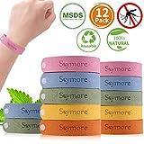 Skymore Bracelet Anti-Moustique, 12 Pcs Bracelet Anti-Moustique pour Enfants, Adulte, Bracelet Anti-Moustique Réglable, Anti-Moustique
