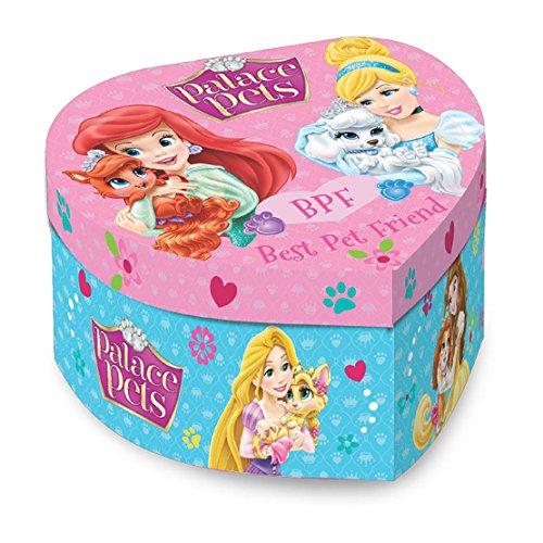 Boite à Bijoux Musicale Princesse Disney Palace Pets Coeur 15x9x14Cm