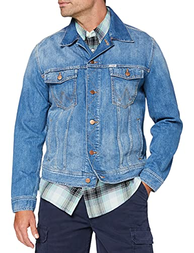 Wrangler Authentic Jacket Chaqueta Vaquera, Azul (The Gathering 80t), Medium para Hombre