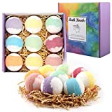 Bath Bombs Gift Set, Funxim Bath Bombs with Fizzy Bubbles 9 Pack Organic Natural Bath Bombs Set with Vegan Essential Oils Bath Bombs for Bubble Spa Bath Best Birthday Gift for Women, kids, Christmas