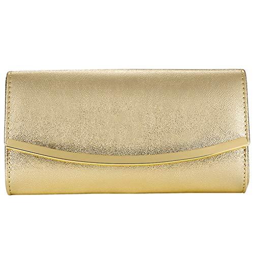 Bolsos de mano dorados para mujer, bolsos de noche, bandolera de hombro, bolso de mano para novia, graduación, boda, fiesta, bolso (GOLD Z)