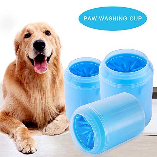 Kindax Pulitore Zampe Cane Dog Paw Cleaner in Silicone per Pulizia Zampe (Taglia L)