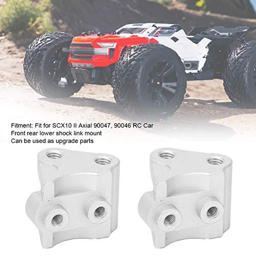 RC Link Halterung, Vorne Hinten Unten Stoßdämpfer-Link-Halterung Kompatibel mit SCX10-II AXIAL RC-Car( Silber)