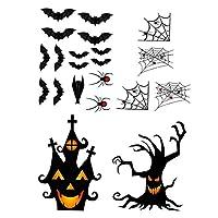 MERIGLARE ハロウィンステッカー怖いpvcステッカー家の装飾、diyウィンドウリムデカールリビングルーム浴室屋内ハロウィンパーティー用品