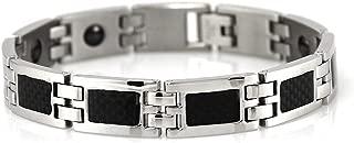 10mm Mens Power Carbide Black Magnetic Bracelet Balance Band Balance w/Retail Box