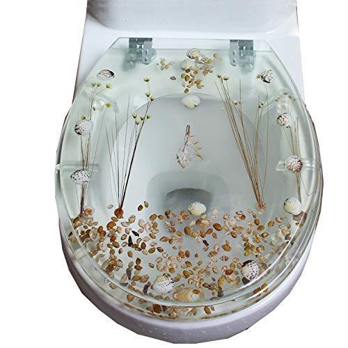 Harz Toilettensitz Universal Toilettensitzbezug Transparenter Toilettensitz Harz Farbe Flush Toilettensitz Uvo Universal Verdickte Abdeckplatte Real Dried Flower Shell Making