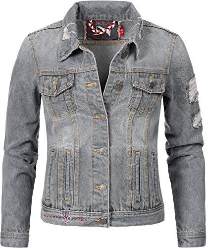 Navahoo Damen Jeansjacke Übergangsjacke Pamuyaa...