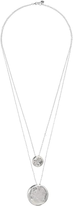 Disc Layered Necklace 28""