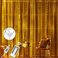 「Olier」ストリングライト お洒落な 100個LED ストリングライト イルミネーションライト カーテンライト フェアリーライト フックアップ付 飾りライト リモコン8 種類の切替モード 電池式 透明蛍光灯 ベッドルーム/アウトドア/結婚式/庭対応/誕生日/クリスマス飾り