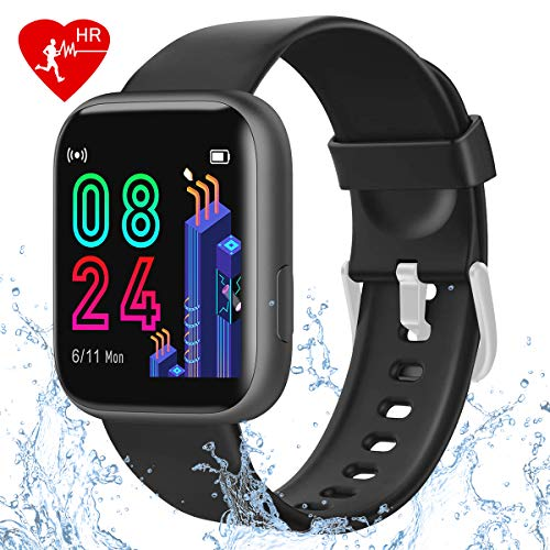 BTMAGIC Smart Fitness Tracker Watch, Activity Fitness Tracker with 1.4inch Touch Screen, IP68 Waterproof Smart Watch with Heart Rate Monitor Pedometer Sleep Monitor, Smartwatch for Men Women