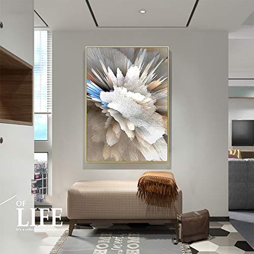 Kreative abstrakte Kunst Farbe Wohnzimmer Dekoration malerei rahmenlose malerei abstrakte geometrische Stil Druck Art Yixianjiacheng (Size (Inch) : 70x100cm 28x42inch)