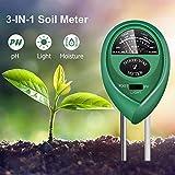 7. yoyomax Soil Test Kit, 3-in-1 Soil Tester pH Moisture Meter Plant Water Light Tester Testing Kits for Garden Plants