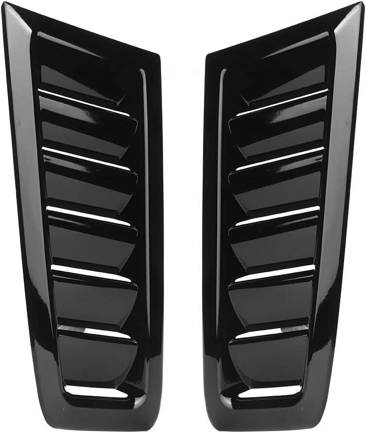 iFCOW Bonnet Vent Auto Car Abs Bonnet Air Vent Accesorio Modificado para Ford Focus Rs Mk2 (Negro Brillante)
