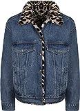 Levis Dad Reversible Fur Trucker Jacket Cat Eye L