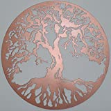 Tree Of Life Metal Art Wall Decor, 23.5 inches, Copper Look