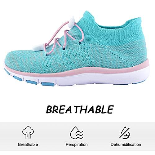 Knixmax - Zapatillas Deportivas Interior para Niños y Niñas, Zapatillas de Running Sneakers Zapatos de Correr Aire Libre Deportes Casual Zapatillas Ligeras para Correr Transpirable, Rosa EU 31