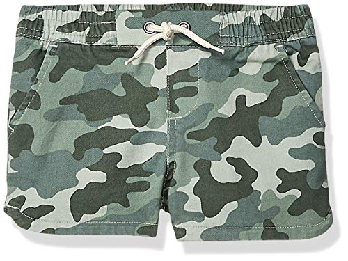 Amazon Brand - Spotted Zebra Toddler Girls Pull-On Shorts, Camo, 2T