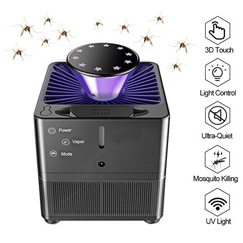 Yeelan Electric Mosquito Killer Lamp Insect Killing Lámparas Bionic Trap con Control de luz UV LED, Bug Zapper con USB Power 3D Touch y Ventilador succión para el Interior Casa Interior Casa