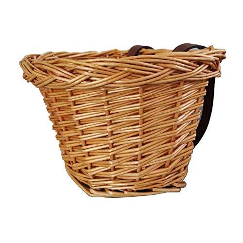 Chinejaper gevlochten fietsmand, verstelbare positie, waterdicht, vast, duurzaam rieten mand, fietsmand, hangmand vooraan, fietsaccessoires, 23 x 16 x 15,5 cm