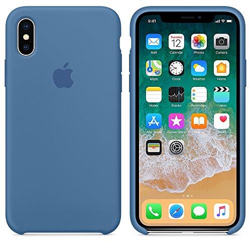 AW 2019 Estate Ultima Custodia in Silicone per iPhoneX (iPhone X, Blu Denim)