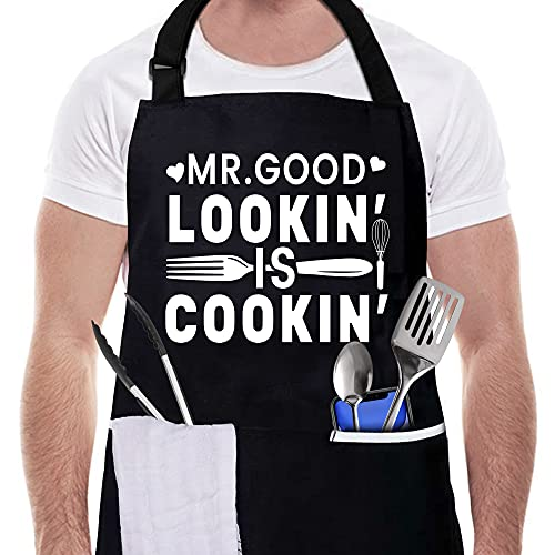 Channel Five Good Cooking Funny Aprons for Men-Grill Chef Apron for Father's Day