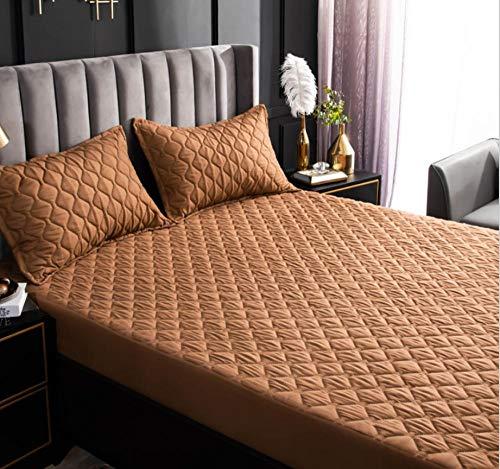 XLMHZP colchas Lisas,Funda de colchón Impermeable Acolchada Ajustada de Diferentes tamaños colchón Protector de Piso Estilo Cubierta de colchón Grueso-T_150x200cm+30cm