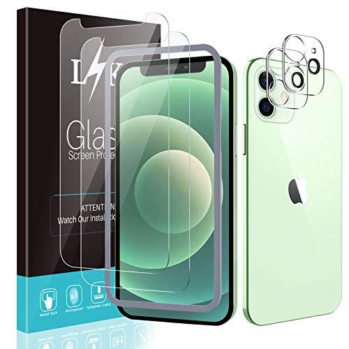 LÏŸK 4 Pack Protector de Pantalla Compatible con iPhone 12 5G 6.1...