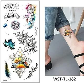 HXMAN 5 Hoja Temporal Tatuaje Pegatina Fresco Falso Tatoo Planta ...