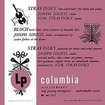 Stravinsky & Bloch: Chamber Works