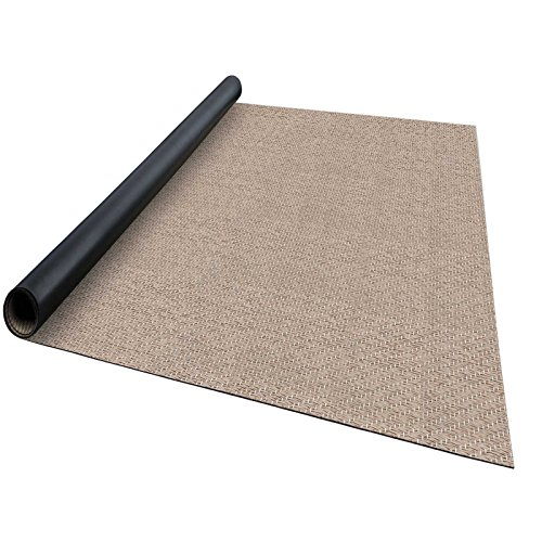casa pura® Indoor- und Outdoor-Bodenbelag Verona   kunstvoll gewebter Terrassenteppich   als Outdoor Teppich Meterware oder Läufer für innen   40 Größen (180x1000cm)